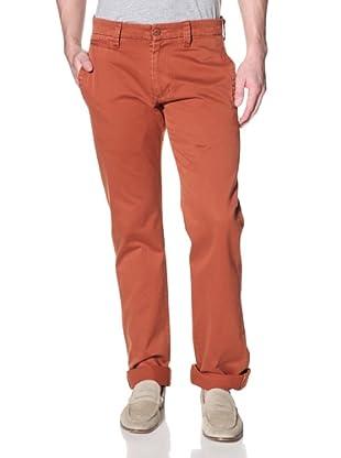 Agave Denim Men's Papillon Straight Leg Zip Fly Twill Chino (Picante)