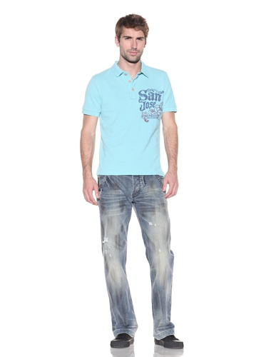 Z Brand Men's Short Sleeve San Jose Polo (Light Sky)