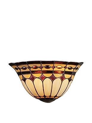 Artistic Lighting Diamond Ring 2-Light Pocket Sconce, Burnished Copper