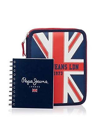Pepe Jeans Cuaderno + Estuche Flag Azul Marino
