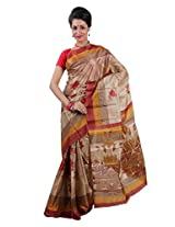 Parichay Women's Silk Saree(Brown & Beige)