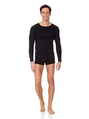 Jolidon Camiseta manga larga Hombre basic (negro)
