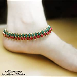 Multi colored anklet