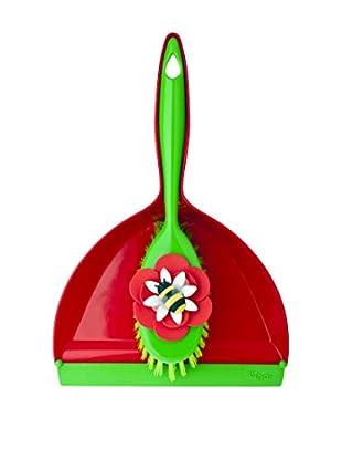 VIGAR Cepillo De Mano 2 Piezas Vincent´S Farm Insects Rojo / Verde