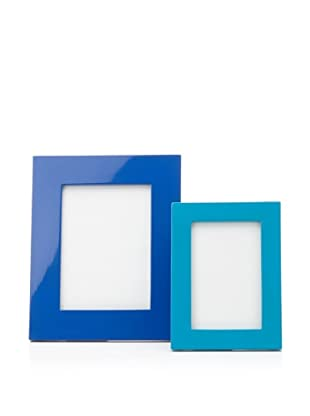 Mili Designs Large and Small Picture Frame Set (Dark Blue/Light Blue)
