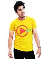 Incynk Men's T-Shirt - MSS103 (Yellow)