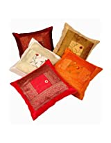 Little India Embroidered Multicolor Cushion Cover