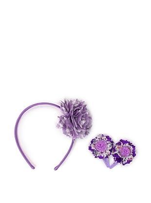 Liliella Lavender Headband and Purple Hairclip Set