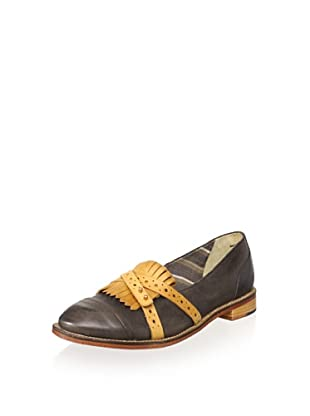 J SHOES Women's Baroness Oxford (Black/Cork)