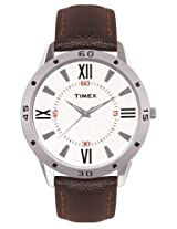 Timex Fashion Analog White Dial Men's Watch - TI002B11300