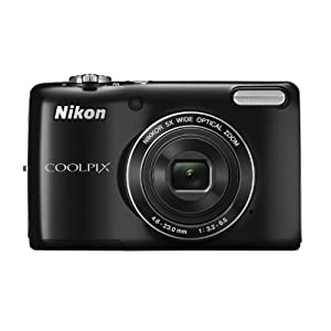 Nikon Coolpix L26 16.1 MP Point and Shoot Camera (Silver) with 5x Optical Zoom