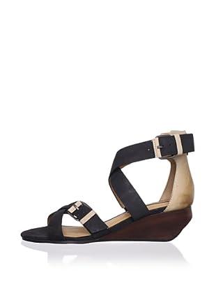 Modern Vintage Women's Lorisa Ankle-Strap Sandal (Black/Sand)