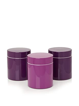 Mili Designs Set of 3 Lidded Jars (Purple/Violet)