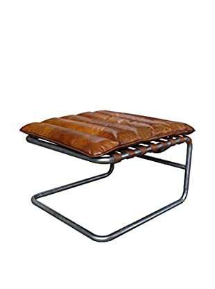 Mélange Home Hamilton Chaise Leather Lounge Stool, Vintage Brown