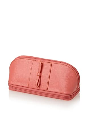 Morelle & Co. Rachel Leather Cosmetic/Jewelry Case (Coral)