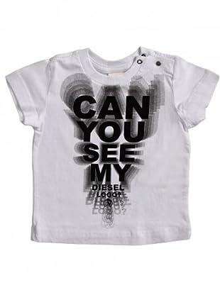 Diesel Kid T-Shirt Tabacyb Baby (Weiß/Schwarz/Grau)