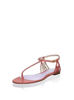 Delman Women's Shaya Sandal (Light Coral)
