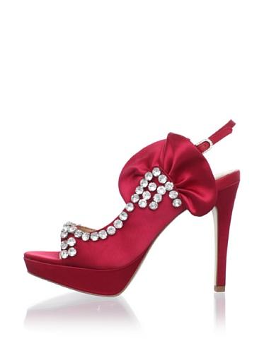 Le Soir Pour La Victoire Women's Giada d'Orsay Platform Sandal (Red)