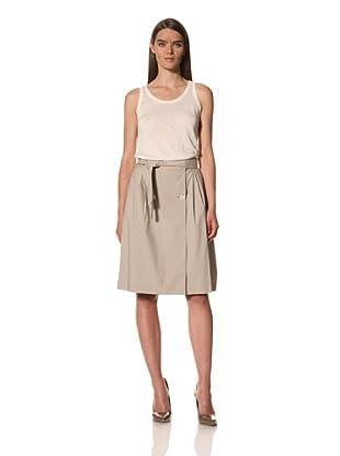JIL SANDER Women's Poplin Skirt with Tie Belt