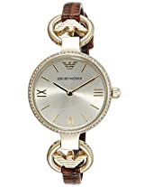 Emporio Armani Analog Champagne Dial Women's Watch - AR1885