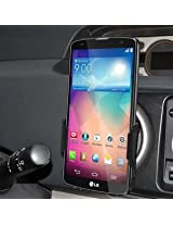 Amzer Swiveling Air Vent Mount Holder for LG G Pro 2 F350 - Retail Packaging - Black