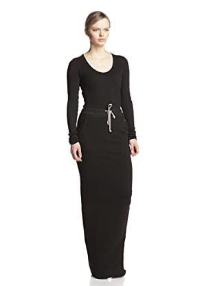 Rick Owens DRKSHDW Women's Long Skirt (Black)