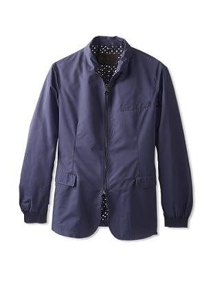 Salvatore Ferragamo Men's Zip-Front Jacket (Navy)