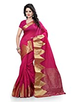 Shree Sanskruti Women's Cotton Banarasi Saree With Blouse Sari