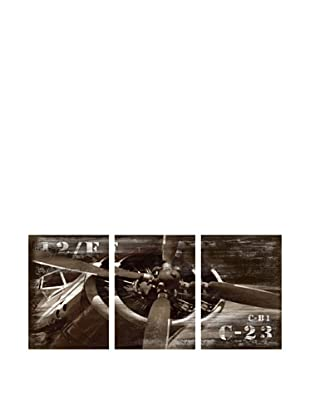 Wall accents seeing multiples dlh designer looking home - Vintage airplane triptych ...