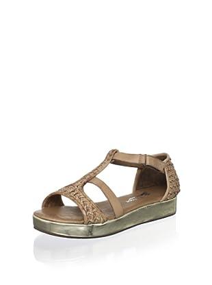 Antelope Women's T-Strap Low Platform Sandal (Powder)