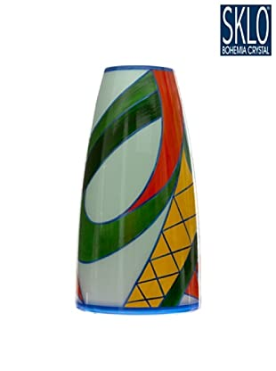 Cristal de Bohemia Florero Aztec H 29.5 Cm