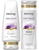 Pantene Pro-V Sheer Volume, DUO Set Shampoo + Conditioner, 12.6 Ounce, 1 each