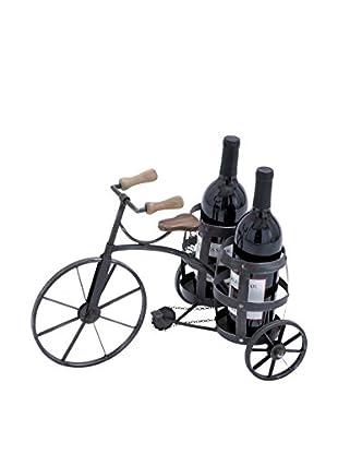 Deco 79 Metal Wine Holder, Grey