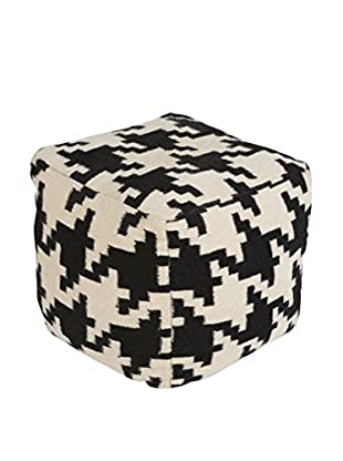 Surya Frontier Pouf, Black