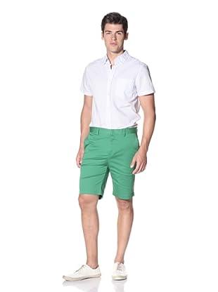 Slate & Stone Men's Buio Flat-Front Short (Green)