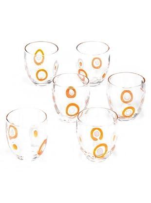 Tognana Set 6 Bicchieri Acqua Brenda (arancio)