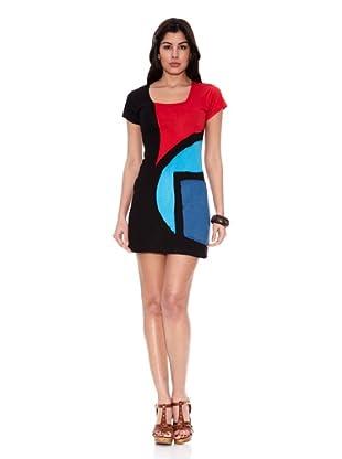 HHG Vestido Brooke (Negro / Rojo)