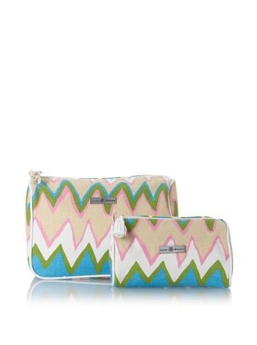 Julie Brown Set of 2 Cosmetic Bags (Pink Charlie)