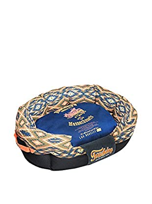 Touchdog Tribal Throwback Diamond Patterned Ultra-Plush Rounded Dog Bed