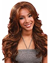 Bobbi Boss Lace Front Wig Mlf14 Pearl Color #4/30 Light Brown/Medium Brown Red