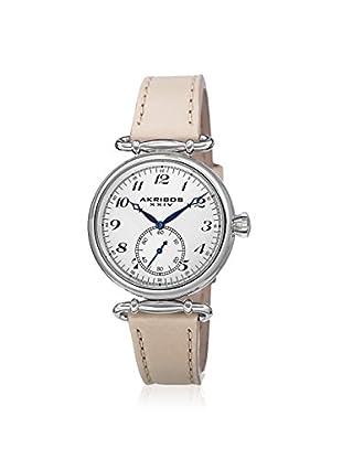 Akribos XXIV Women's AK704TN Beige/White Stainless Steel Watch