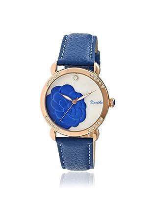 Bertha Women's BR4607 Daphne Blue/White Leather Watch