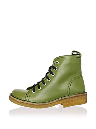 Swedish Hasbeens Women's Lace-Up Duck Boot (Apple Green)