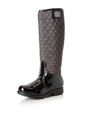 Geox Women's Dina Boot (Gunmetal/Black)