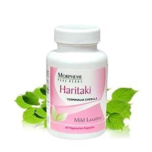 Morpheme Haritaki Capsules For Constipation - 500mg Extract - 60 Veg Capsules