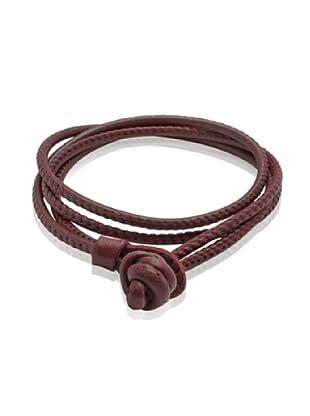 Van Maar Armband Echtleder, maroon