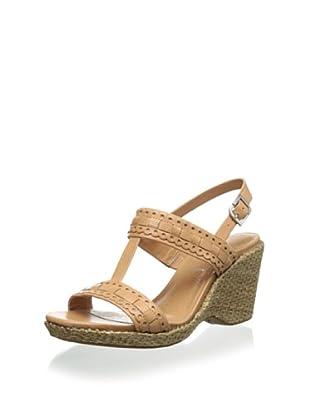 Rockport Women's Delyssa H Strap Wedge Sandal (Warm Oak)