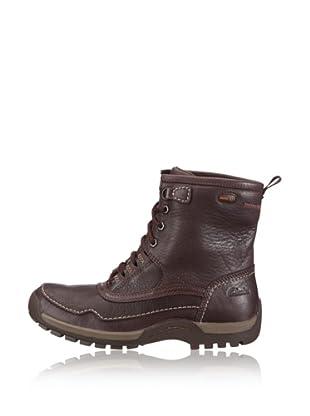 Clarks Leder Schnür-Boot Rain Hi GTX (Braun)