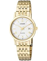Citizen Eco-Drive Analog White Dial Women's Watch EW1582-54A