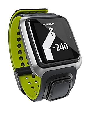 TomTom Gps-Uhr Golfer Grau/Leuchtgrün